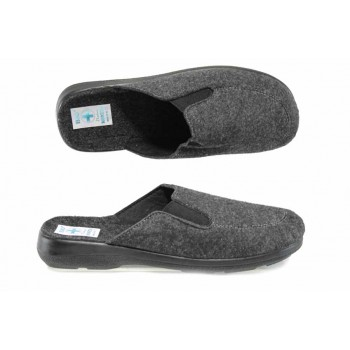 Анатомични мъжки чехли с Bio ходило МА 21107 сив | Домашни чехли | MES.BG