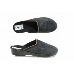 Анатомични дамски чехли с Bio ходило МА 22448 черен | Домашни чехли | MES.BG