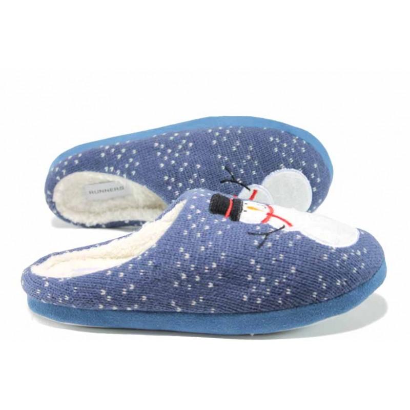 Анатомични дамски домашни чехли РС 172-1032 син | Домашни чехли | MES.BG