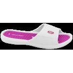 Дамски масажни чехли с цяла лента ГК 30275-1 бял-розов | Дамски джапанки | MES.BG