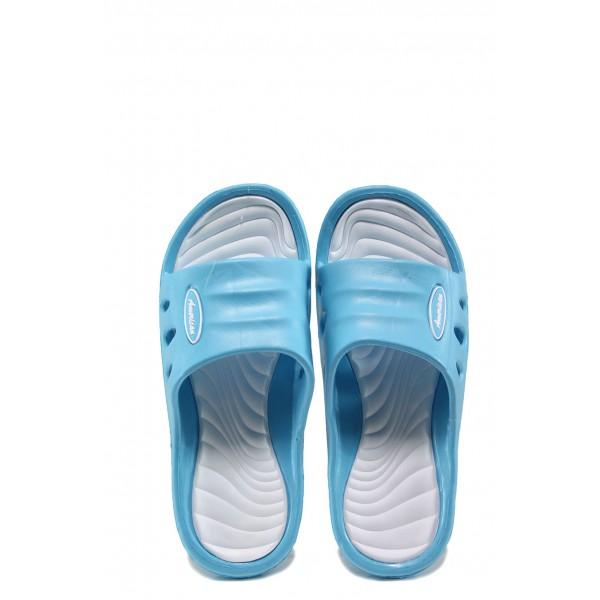 Детски джапанки АБ 160420 син-бял 31/36 | Детски гумени чехли | MES.BG