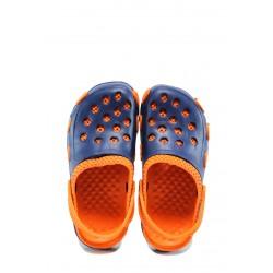 Детски чехли-сандали тип крокс АБ 6779 син-оранжев 31/35 | Детски гумени чехли | MES.BG