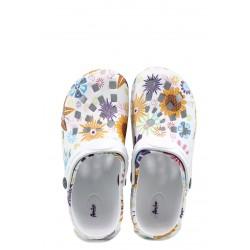 Детски чехли-сандали тип крокс АБ 2892 бял-слънчоглед 30/35 | Детски гумени чехли | MES.BG