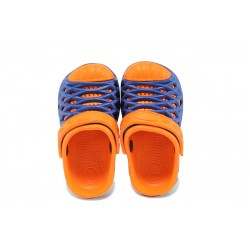 Детски чехли-сандали тип крокс АБ 6133 син-оранжев 25/29 | Детски гумени чехли | MES.BG