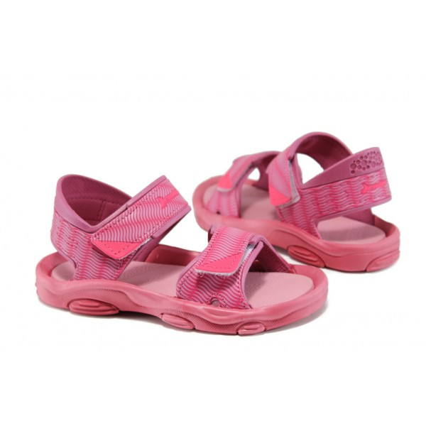 Детски сандали с лепенки Rider 81693 розов 21/29 | Бразилски чехли и сандали | MES.BG