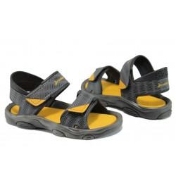 Детски сандали с лепенки Rider 81693 сив-жълт 21/29 | Бразилски чехли и сандали | MES.BG