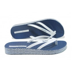 Анатомични дамски чехли Ipanema 82064 син-бял | Бразилски чехли и сандали | MES.BG
