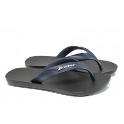 Мъжки чехли между пръстите Rider 81666 черен-син | Бразилски чехли и сандали | MES.BG