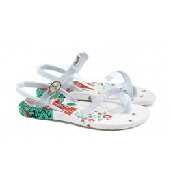 Анатомични детски сандали Ipanema 81930 бял 31/35 | Бразилски чехли и сандали | MES.BG