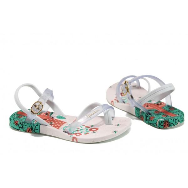 Анатомични детски сандали Ipanema 81930 бял 25/30 | Бразилски чехли и сандали | MES.BG