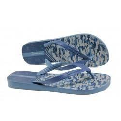 Мъжки равни чехли Ipanema 81942 син | Бразилски чехли и сандали | MES.BG