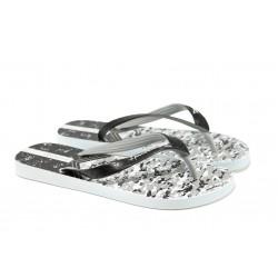 Мъжки равни чехли Ipanema 81942 бял-черен | Бразилски чехли и сандали | MES.BG