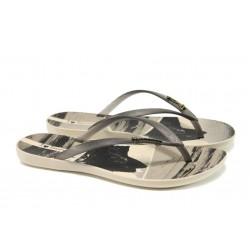 Анатомични дамски чехли Ipanema 82119 бежов-черен | Бразилски чехли и сандали | MES.BG