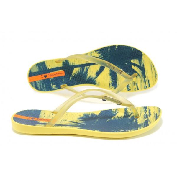 Анатомични дамски чехли Ipanema 82119 жълт | Бразилски чехли и сандали | MES.BG