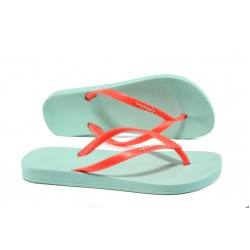 Анатомични дамски чехли Ipanema 81030 зелен-оранжев | Бразилски чехли и сандали | MES.BG