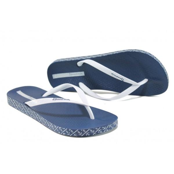 Анатомични дамски чехли Ipanema 25924 син-бял | Бразилски чехли и сандали | MES.BG