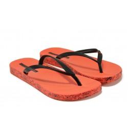 Анатомични дамски чехли Ipanema 25924 червен-черен | Бразилски чехли и сандали | MES.BG