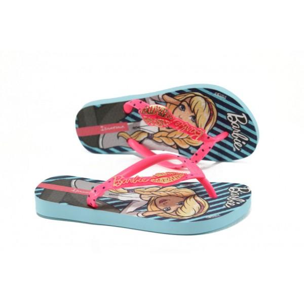 Детски чехли-Барби Ipanema 82111 син-розов 25/34 | Бразилски чехли и сандали | MES.BG