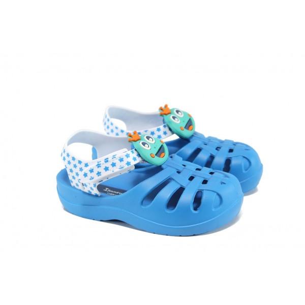 Детски сандали с лепенка Grendha 81948 син-бял 19/29   Бразилски чехли и сандали   MES.BG
