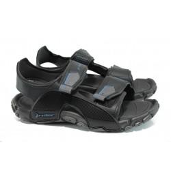 Анатомични мъжки сандали Rider 81910 черен | Бразилски чехли и сандали | MES.BG