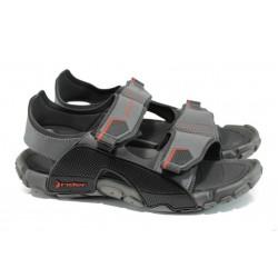 Анатомични мъжки сандали Rider 81910 черен-сив | Бразилски чехли и сандали | MES.BG