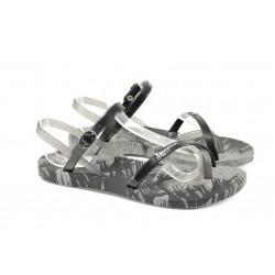Анатомични дамски сандали Ipanema 81929 сив-черен | Бразилски чехли и сандали | MES.BG
