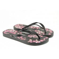 Дамски чехли Ipanema 82000 черен | Бразилски чехли и сандали | MES.BG