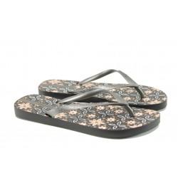 Равни дамски чехли Ipanema 82070 черен-сребро | Бразилски чехли и сандали | MES.BG
