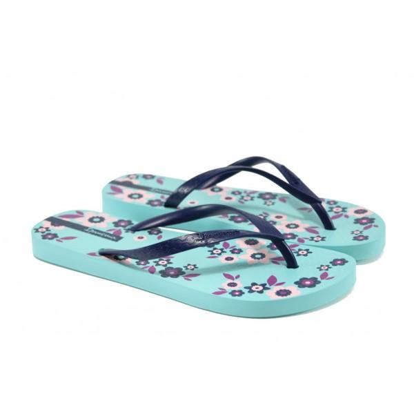 Равни дамски чехли Ipanema 82000 син   Бразилски чехли и сандали   MES.BG