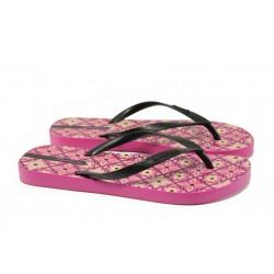 Равни дамски чехли Ipanema 82070 розов-черен | Бразилски чехли и сандали | MES.BG