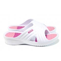 Дамски масажни чехли АБ 141023-3 бял-розов | Дамски джапанки | MES.BG