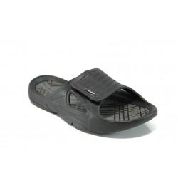 Анатомични мъжки чехли с лепенка АБ 160622-2 черен | Мъжки джапанки | MES.BG