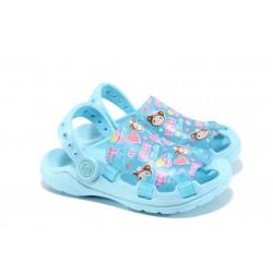 Детски чехли-сандали тип крокс АБ 31-1 син 27/31 | Детски гумени чехли | MES.BG