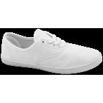 Дамски платненки с връзки ГК 30105-3 бял | Дамски маратонки | MES.BG