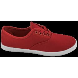 Дамски платненки с връзки ГК 30105-5 червен | Дамски маратонки | MES.BG