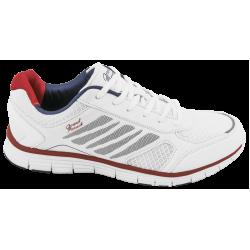 Дишащи мъжки маратонки ГК 30109-2 бял-червен | Летни мъжки маратонки | MES.BG