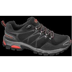 Дишащи мъжки маратонки с класическо ходило ГК 30191-2 черен-червен | Летни мъжки маратонки | MES.BG