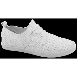Мъжки кожени спортни обувки ГК 30210-2 бял | Мъжки ежедневни обувки | MES.BG