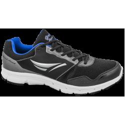 Дишащи мъжки маратонки ГК 30218-1 черен гигант | Летни мъжки маратонки | MES.BG