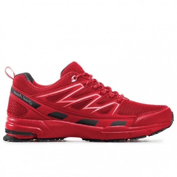 Мъжки кожени маратонки с връзки ГК 30329-1 червен | Мъжки маратонки | MES.BG