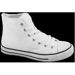 Юношески високи кецове ГК 3667-2 бял | Дамски маратонки | MES.BG