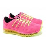 Летни дамски маратонки с въздушна камера Bulldozer 71144 розов-зелен | Летни маратонки | MES.BG