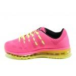 Летни дамски маратонки с въздушна камера БР 71144 розов-зелен | Летни маратонки | MES.BG