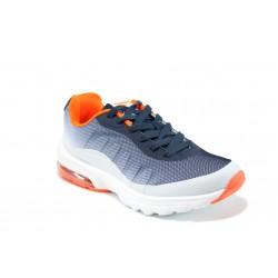 Дишащи мъжки маратонки с въздушна капсула ГК 30225-2 син | Летни мъжки маратонки | MES.BG