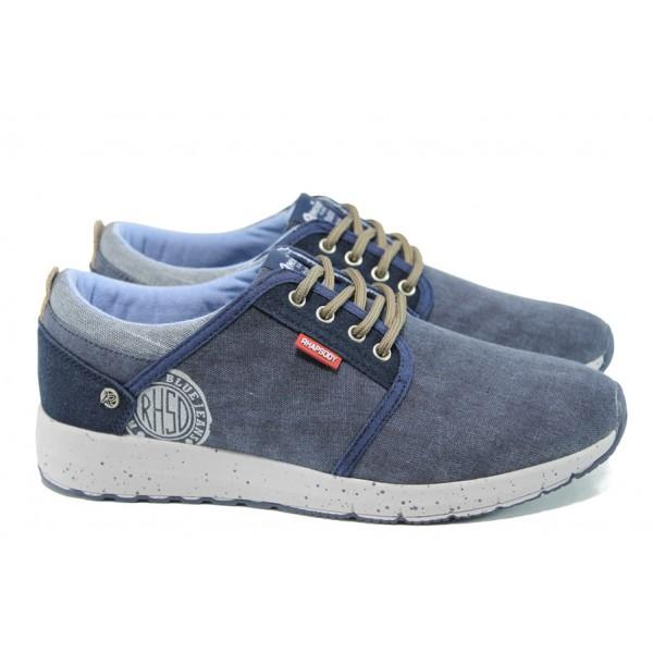 Мъжки спортни обувки АБ 503036 син | Мъжки ежедневни обувки | MES.BG