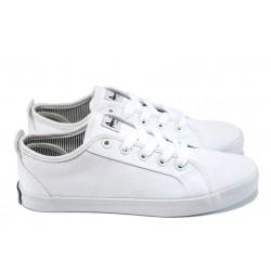 Юношески платненки с връзки АБ 17-01 бял | Летни дамски маратонки | MES.BG