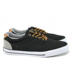 Мъжки спортни обувки АБ 17-10А черен | Мъжки ежедневни обувки | MES.BG