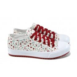 Дамски спортни обувки Bulldozer 61248 червен цветя | Дамски маратонки | MES.BG