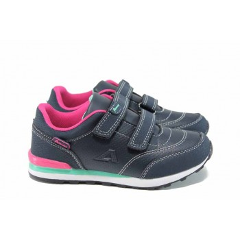 Детски маратонки със стелки от естествена кожа АБ D1 син-розов 27/31 | Детски маратонки | MES.BG