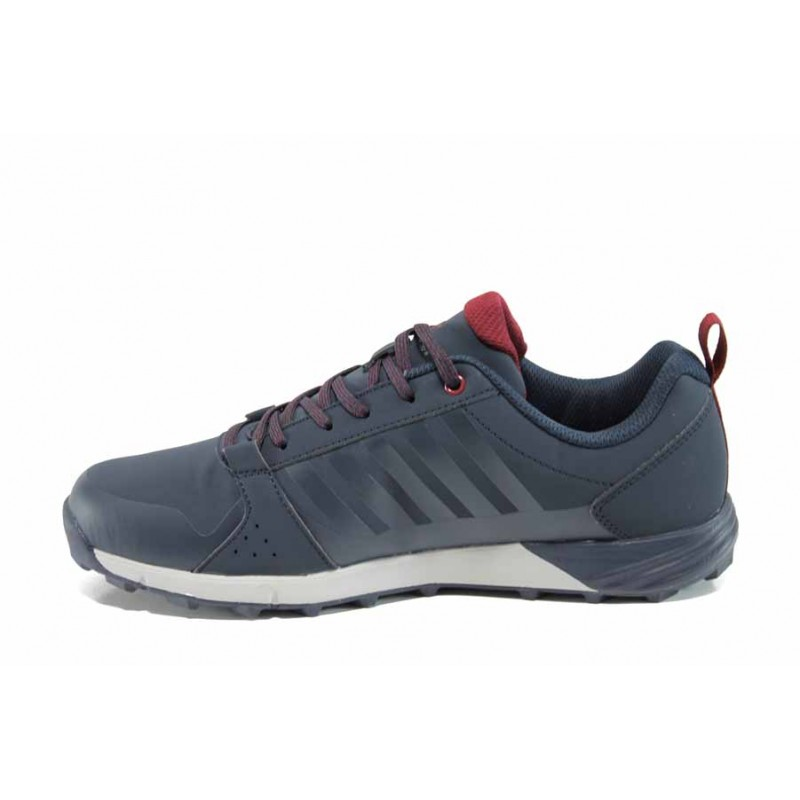 Кожени мъжки маратонки РС 172-2404 син | Мъжки маратонки | MES.BG